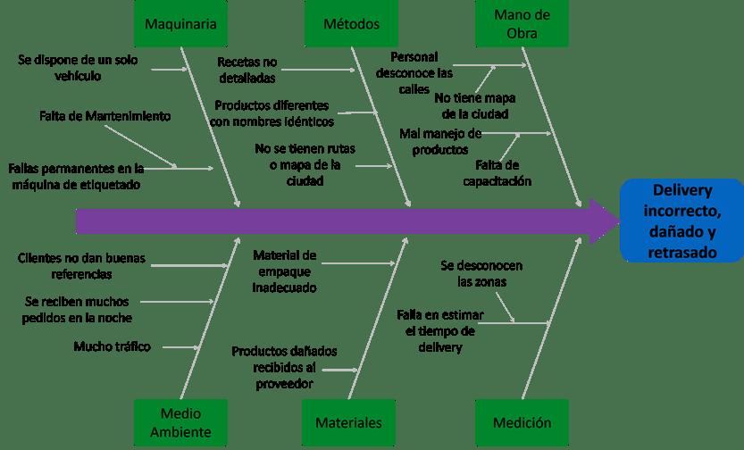 Ejemplo de diagrama causa efecto en una empresa
