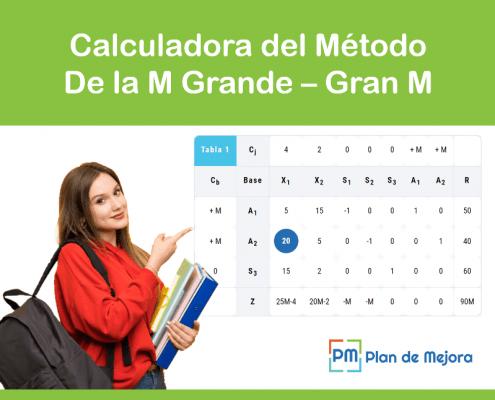 calculadora método de la M grande