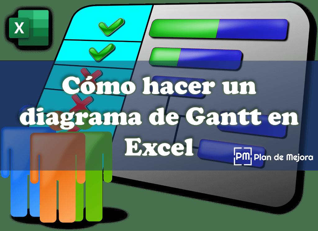 cómo hacer un diagrama de Gantt en excel