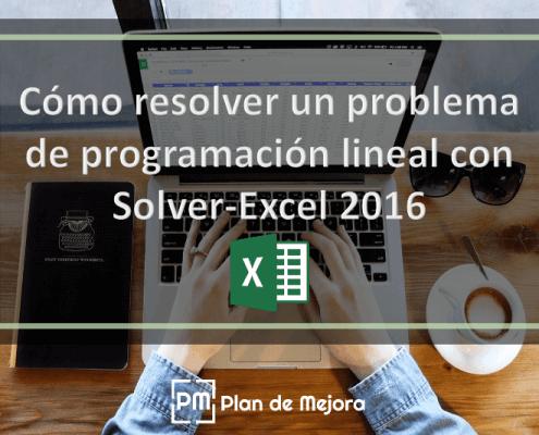 Cómo resolver un problema de programación lineal con Solver-Excel 2016