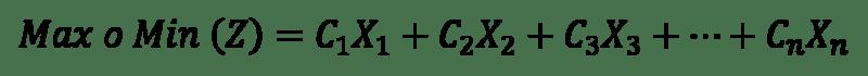 ecuación variable de decisión